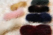 New Wholesale 10pcs/lot Headband Mink Fur Bows Headband DIY Hair Accessories Findings For Baby  Women Clips Headwear