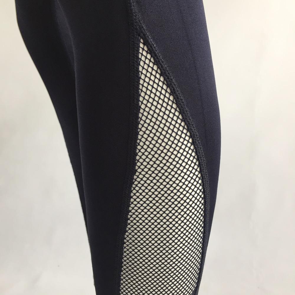 New Women Push-up Sporting Leggings Black Fashion Net Hollow Elastic Skinny Fitness Leggings Sporting Clothing For Women 26