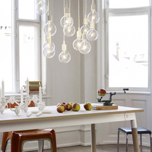 Euro Style Silica E27 Home Ceiling Pendant Lamp Bulb Holder Lampfair 9 Colors@ifashion2014