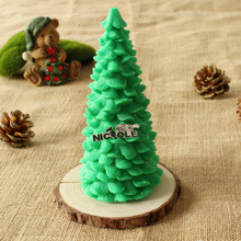 3D Pine Christmas Tree Silicone candle Mold Handmade Soap resin Decoration Craft Mould