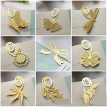 1PCs New Korean Metal Bookmark Clover Ginkgo Maple Variety Custom Holiday Stationery Gift H0466