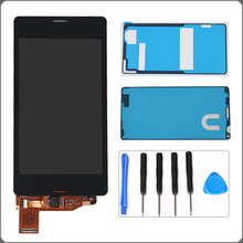 "4.3"" Black White For Sony Xperia Z3 Mini Compact D5803 D5833 LCD Display Touch Screen Digitizer Assembly+Adhesives+Repair Tools"