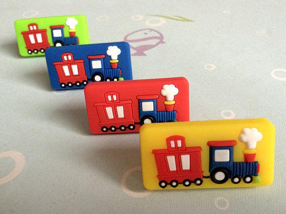 Kids Dresser Knob Drawer Knobs Pulls Handles Train Car Red Blue Green Yellow Cabinet Door Knobs Furniture Knob Handle Pull<br><br>Aliexpress