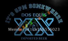 LA422- It's 5 pm Somewhere Dos Equis Bar LED Neon Light Sign(China)