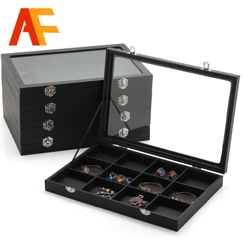 5 Differents Jewelry Display Case Style Wrapped With Leather Material All Match Collection Case Exhibitor Tray Jewelry Display(China (Mainland))