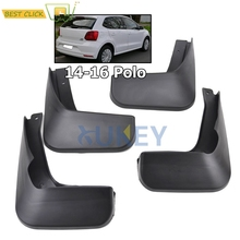 Set Molded Mud Flaps For VW Polo 6C Hatchback 2015 2016 Polo Mudflaps Splash Guards Front Rear Mud Flap Mudguards Fender Ki