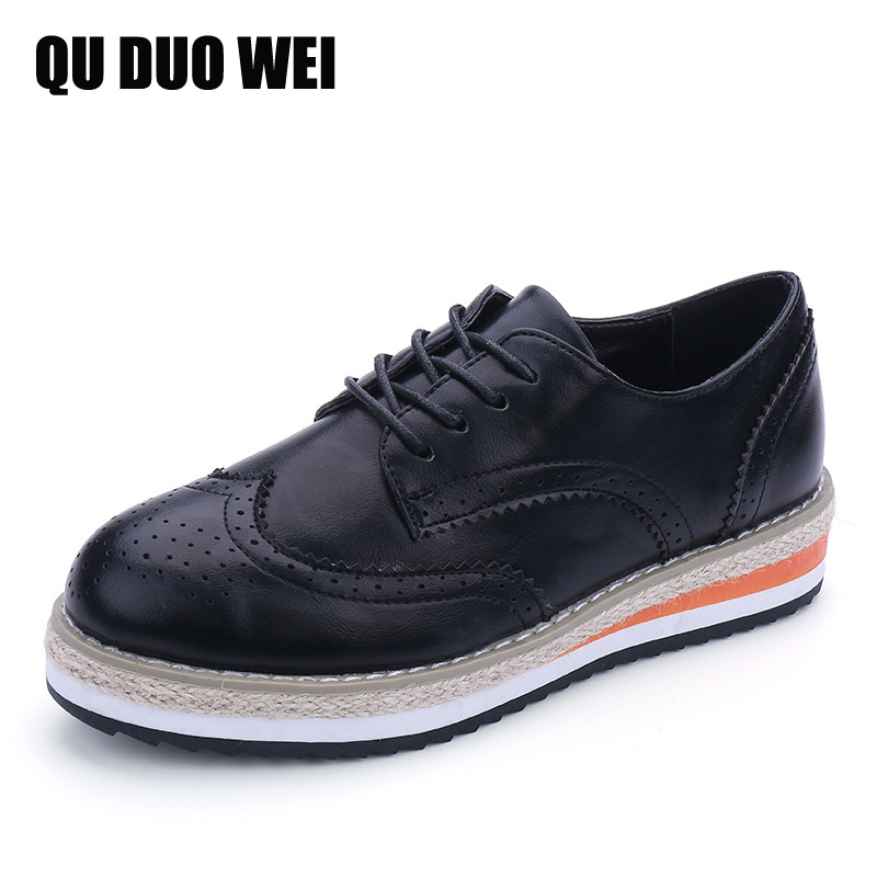 Brogue Shoes Woman Candy Colors Flat Platform Women Oxfords Shoes British Style Bullock Creepers Cut-Out Flat Casual Women Shoes<br><br>Aliexpress