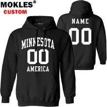 MINNESOTA pullover free custom name number US winter MN jersey warm Minneapolis Duluth Rochester flag america Saint Paul clothes(China)