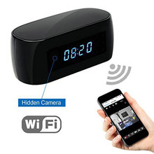 HD 1080P Wifi Camera with Time display Electronic Clock DV Camcorder P2P Motion Detection Mini IP Camera Video Recorder(China)