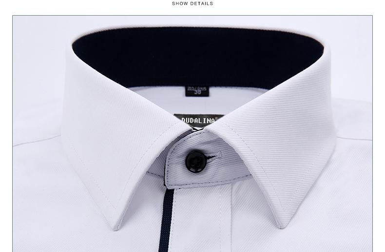 Dudalina Camisa Male Shirts Long Sleeve Men Shirt Brand Clothing Casual Slim Fit Camisa Social Striped Masculina Chemise Homme 4