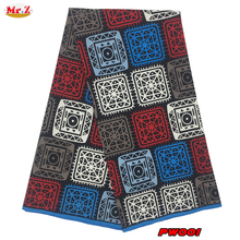 Mr.Z Fashion Polyester Ankara Wax Hollandais Fabric High Quality Prints Batik Wax 6Yards For Aso Ebi