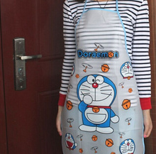 Kawaii Doraemon Adult 70*50CM PE Women Lady's Kitchen Apron Pinafore ; Kitchen Cooking Waterproof Pinafores Aprons