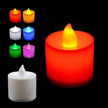 Plastic Candle Shape LED Fliker Flameless Candles Light For Romantic Wedding Party Holiday Decoration