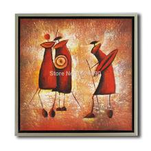New Product 100% Hand-painted Extra-terrestrial Oil Painting Handmade High Quality Modern Brownish Red Painting Pictures 60x60cm