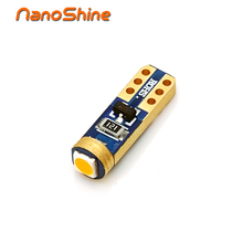 Nanoshine super bright 3030 SMD led T5 car dashboard light gauge instrument side auto wedge door bulb lamp 12V(China)