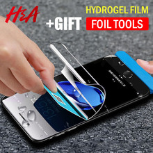 Buy H&A Hydrogel Membrane Film iPhone X 8 6 7 Plus Screen Protector iPhone 7 8 6s Plus Film Full Cover Hydrogel Glass for $3.10 in AliExpress store