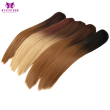 "Neverland Heat Resistant 9 Colors 20"" Natural Straight Claw On Ponytails Ombre Synthetic Pony Tail Hair Extensions(China)"