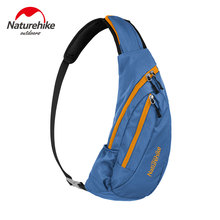 NatureHike Nylon Waterproof Single Shoulder Bag Camping Outdoor Chest Bag Pouch Bosom Bag Sport Running Messenger Bag(China)