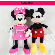 35CM Mini Lovely soft cute Mickey Mouse Minnie Mouse Stuffed Soft Plush Toys Birthday Children's day Gifts wedding/girls' gifts
