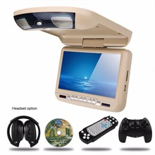9 inch Roof Mount Car DVD Player with MP5 IR FM Transmitter(China)