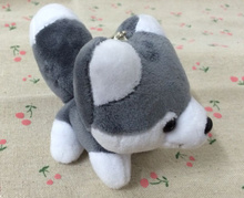 HOT NEW 10CM Approx. Middle Size , Quality Husky Dog Plush toys , Key Chain Gift Dog Plush Stuffed TOY , Party Plush Gift Doll