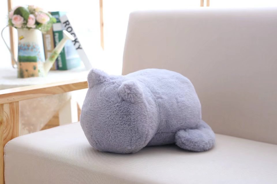 1pcs Cute Soft Cat Stuffed Pillow Lovely Kawaii Animal Plush Shadow Cat Plush Toy For Kids Gift Home Decoration (1)