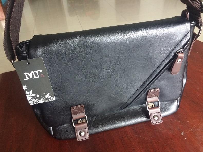 MJ Men\`s Bags Vintage PU Leather Male Messenger Bag High Quality Leather Crossbody Flap Bag Versatile Shoulder Handbag for Men
