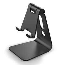 Nulaxy Universal Phone Holder Adjustable Mobile Phone Holder Stand Aluminum Desk Phone Stand for iPhone 6 6S 7 Plus Galaxy S7 S6
