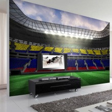 Photo wallpaper Custom 3D Coffee Shop restaurant bedroom living room wallpaper stereoscopic football stadium mural