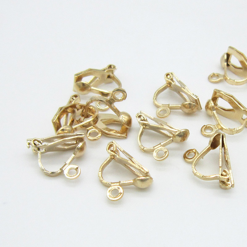 8mm  Earring Clip Base Findings Supplies Craft Blank Jewelry Making 50pcs