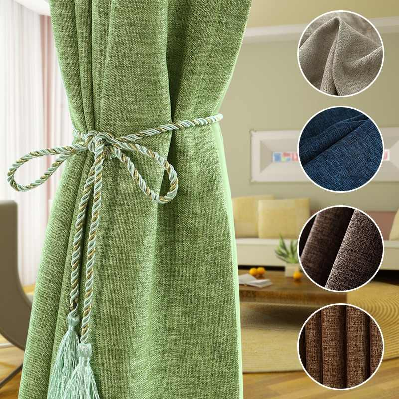[byetee] Blackout Linen Cotton  Modern Curtain Fabric Curtain Curtains Fabrics For Bedroom Cortinas LivingRoom Cortina Drapes