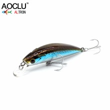 AOCLU wobblers Super Quality 9 Colors 50mm Hard Bait Minnow Crank Popper Stik Fishing lures Bass Fresh Salt water 12# VMC hooks(China)