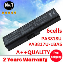 Wholesale New 6cells Laptop battery For Toshiba Satellite L630 L635 L640 L740 L750 L770 L755  PA3817U-1BAS PA3817U-1BRS PA3818U