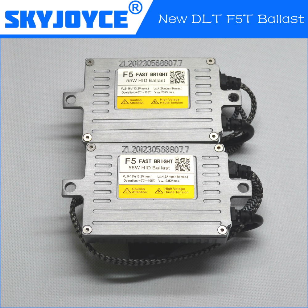 2 Pieces of 2017 NEW DLT F5T 55W hid ballast with DLT logo for H1 H3 H7 H11 9005/HB3 9006/HB4 hid bulbs DLT brand SQ1752<br>
