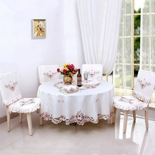 Elegant Design openwork embroidery Table cloth home hotel and catering wedding round tablecloth Textile Decoration