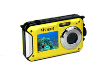 24 mp max digital camera waterproof mini cameras 1080P full hd 16x digital zoom battery DC-16 photo shooting video recording