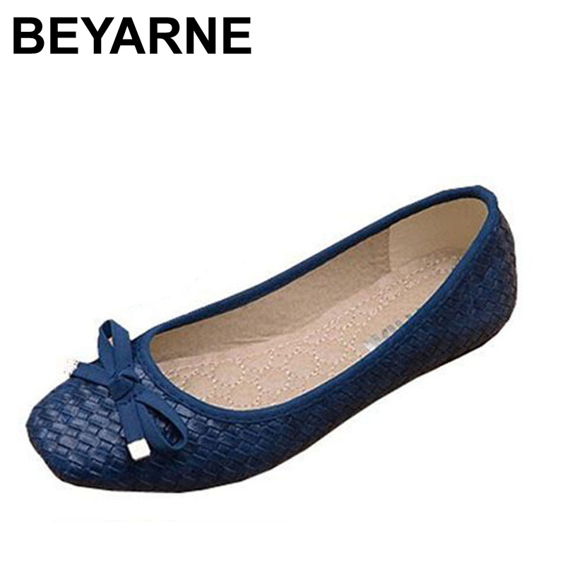 Free Shipping 2015 New Fashion Designer Womens Genuine Leather Bow Soft Bottom Flat Shoes For Women Black Big Size EUR 35-41<br><br>Aliexpress