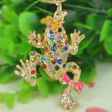 Buy TQ Frog Dragonfly Keyring Rhinestone Crystal Charm Pendant Car Key Bag Chain Handbag Jewelry Christmas Valentine's Day Gift for $1.86 in AliExpress store