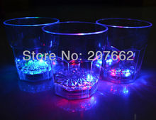 Free shipping 40pcs/lot 260ML plastic cup Flashing Led Wine Glass Light Up Barware Drink Cup  led flashing cup