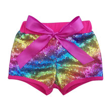 5cbac93d Toddler Baby Rose Sequin Shorts Girls Birthday Party Outfit Cotton Girl  Clothes Rose Gold Glittery Bead