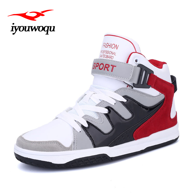 High-top lace-up Men Skateboard shoes Autumn Winter Cool Men's Basketball shoes Cozy Sport shoes men Sneakers Size 39-44