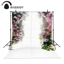 Allenjoy 6.5ft x10ft wedding Background Photography backdrops sunny windowsill flowers Studio For baby custom size indoor