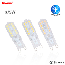 G9 LED Chandelier Lamp 3W 5W No Flicker SMD 2835 110V 220V Dimmable G9 LED Diode Spotlight Bombillas