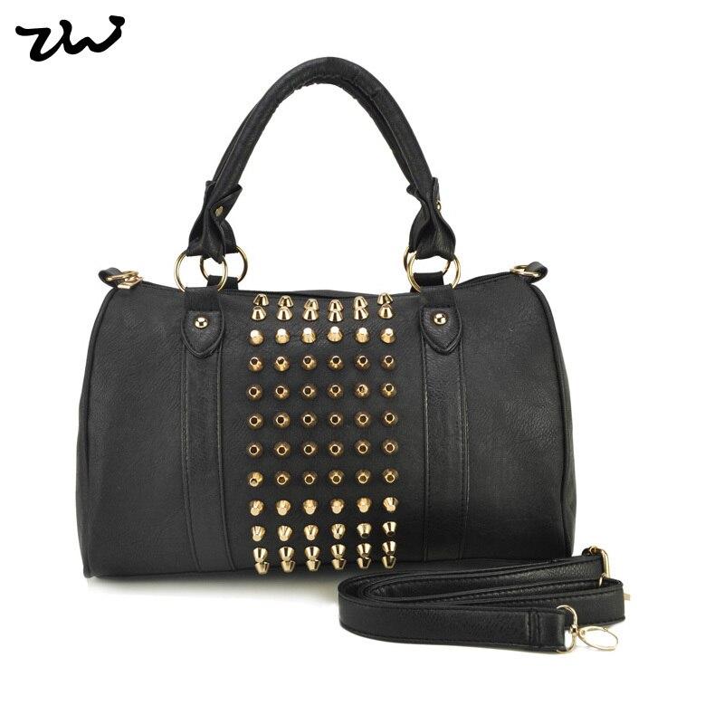 ZIWI Brand 3 Color New Fashion PU Leather Ladies Handbags Stud Womens Handbag Rivet Shoulder Bags VK1317<br><br>Aliexpress