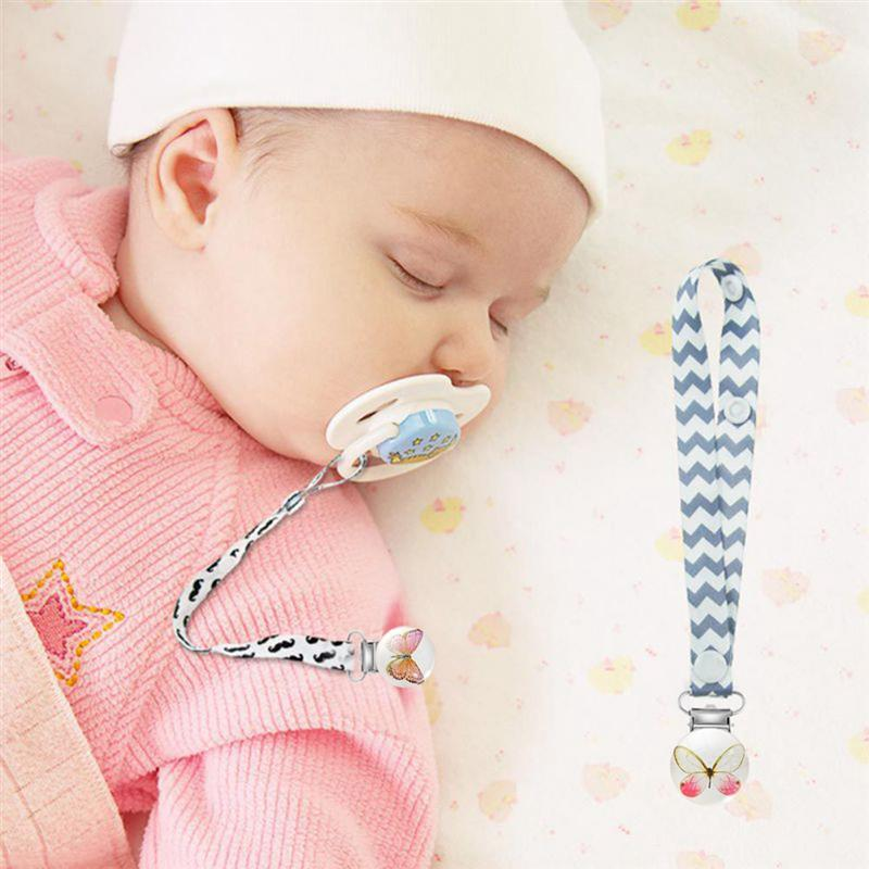 Baby Pacifier Clips Wood Metal Holders Cute Infant Soother Clasps 4.4cmx2.9cm