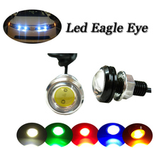 High power & factory sale 6w led eagle eye hid lights 5 colors available drl led running light for cars atv truck reverse light