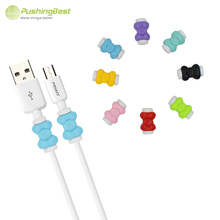 Pushingbest Bowknot USB Cable Protector Cover Case For Apple Iphone5 5s 6 android Colorful Phone Charging data line Accessories