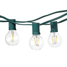 Goeco Summer Led String Lights with 10 1W G40 Light Bulbs Natural Warm White 1W, Porch/Yard/Patio Decorative Led String Lights