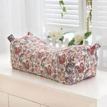 classical Chinese calico coarse cloth cotton linens neck pillows homemian style pattern 48x20x18cm buckwheat filler pillowcases(China)
