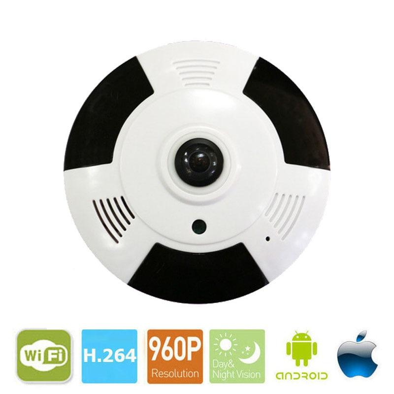 VR Cam 3D VR Camera 360 Degree Panoramic IP Camera 960P 1.3MP FIsheye WIreless Wi-fi Camera IP SD Card Slot Multi Viewing Mode<br>